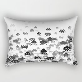 Invaded III B&W Rectangular Pillow