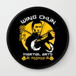 Wing Chun Martial Arts Wall Clock