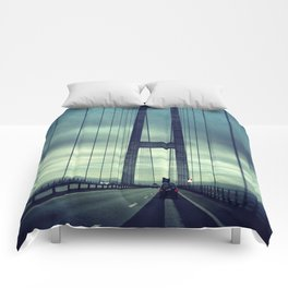 Great Belt Bridge Comforters