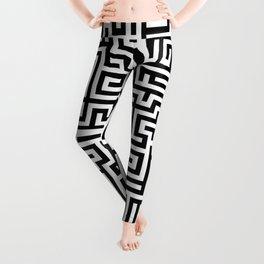 Black and white Labyrinth Leggings