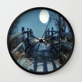 Under The Moonbeams Wall Clock