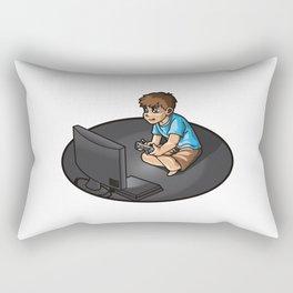 Gaming Life - Video Games Gamer Clan Playing Fun Rectangular Pillow