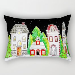 Snowy Village Rectangular Pillow