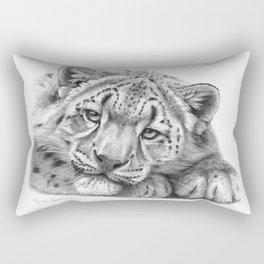 Snow Leopard Cub G105 Rectangular Pillow
