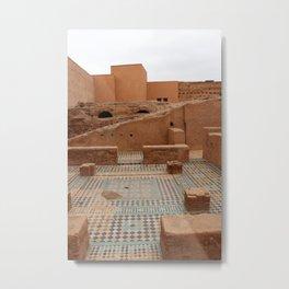 Moroccan Maze Metal Print