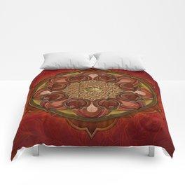 Mandala Flames Comforters