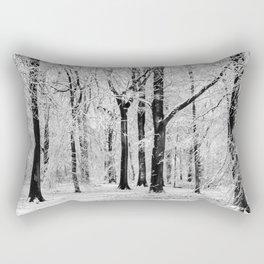 Snowy Beech Trees Rectangular Pillow