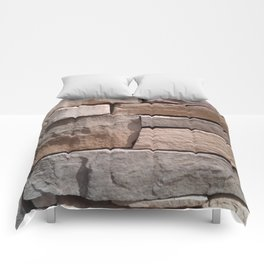 Artisan Masonry Stone House Front Detail 001 Comforters