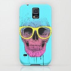 Pop art skull with glasses Galaxy S5 Slim Case