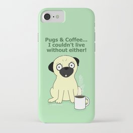 Pugs and Coffee iPhone Case
