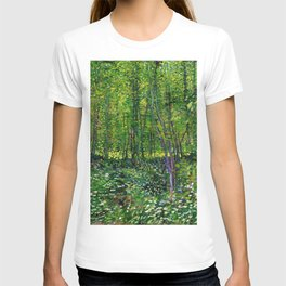 Vincent Van Gogh Trees and Undergrowth 1887 T-shirt