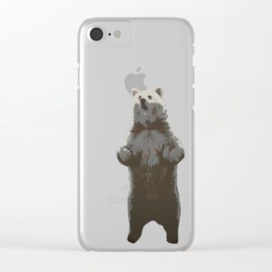 Bear in the Woods Clear iPhone Case