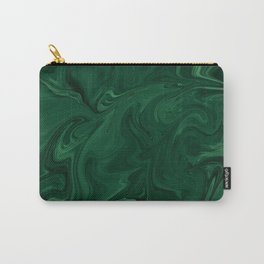 Modern Cotemporary Emerald Green Abstract Carry-All Pouch
