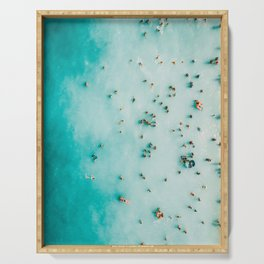 Beach Photography, Aerial Blue Ocean Print, Large Turquoise Ocean Poster, Coastal Wall Art, Beach Serving Tray