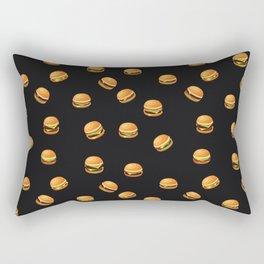 Fun Hamburger Party Pattern Rectangular Pillow