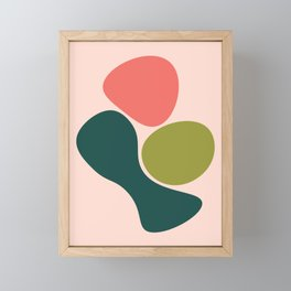 Living Coral Abstract 2 Framed Mini Art Print
