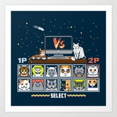 Internet Cat Fight Art Print