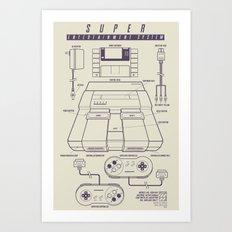 Super Entertainment System (light) Art Print