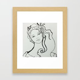 Adorable Girl Framed Art Print