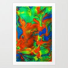 Gravity Painting 14 Art Print