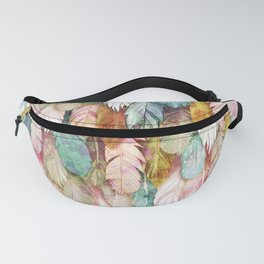 Flight of Feathers Painted Fanny Pack