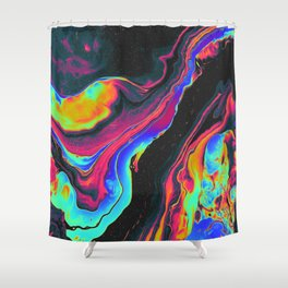 BATS IN THE ATTIC Shower Curtain