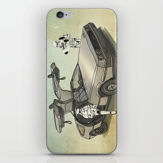 Lost, searching for the DeathStarr _ 2 Stormtrooopers in a DeLorean  iPhone & iPod Skin