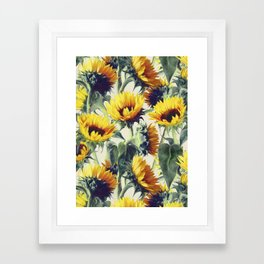 Sunflowers Forever Framed Art Print
