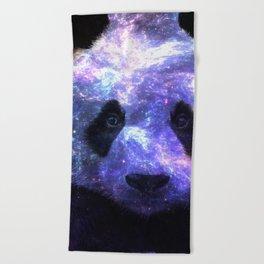 Galaxy Panda Space Colorful Beach Towel