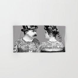 Tattooed Victorian Lovers Hand & Bath Towel