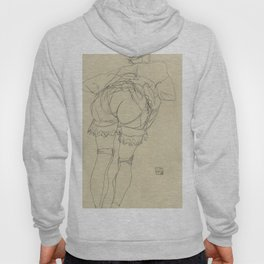 "Egon Schiele ""Girl Bending Forward, Back View"" Hoody"