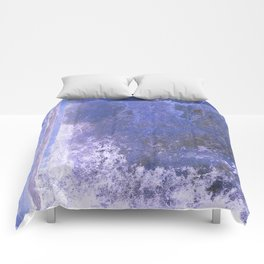 Cobalt Blue Background Texture Comforters