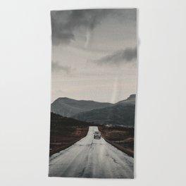 Road 2 Beach Towel