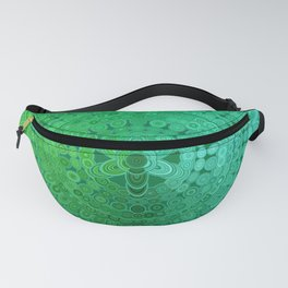 Green Mandala Circle Fanny Pack