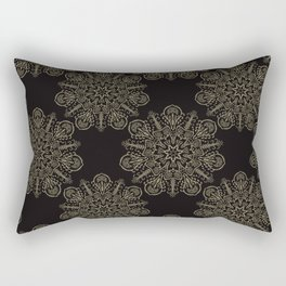 Floral Boho Arabesque Mandalas Rectangular Pillow