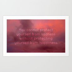 Happiness and sadness Art Print