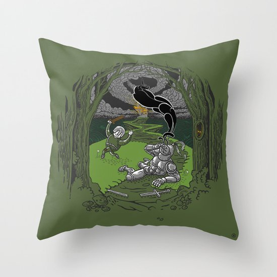 Happy Knight Throw Pillow