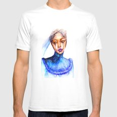 Lady Crying White Mens Fitted Tee MEDIUM