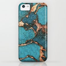 AQUA & GOLD GEMSTONE Slim Case iPhone 5c