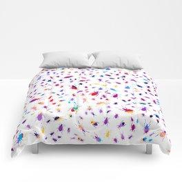 Bugs, Colorful Creepy Crawlies Comforters