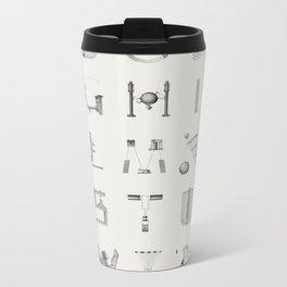 The Beauty of Scientific Diagrams Metal Travel Mug