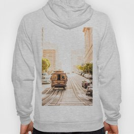 San Francisco Cable Car on Sunny California Street Hoody