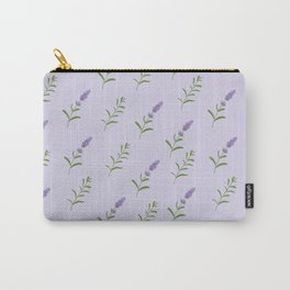 Artistic modern hand painted lavender floral pattern Carry-All Pouch
