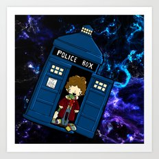 Tardis in space Doctor Who 4 Art Print