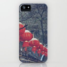 Red Lanterns in Chinatown, NYC iPhone Case
