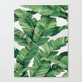 Tropical banana leaves VI Canvas Print