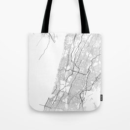 Minimal City Maps - Map Of Yonkers, New York, United States Tote Bag