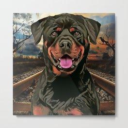 Rottweiler The Hobo Dog Metal Print