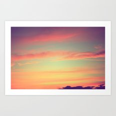 When Rainbows Go To Bed Art Print