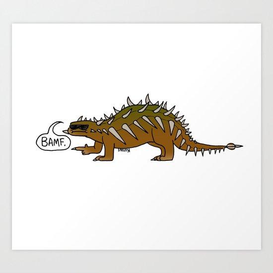 Dino Bros - BAMF Art Print